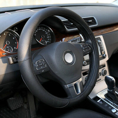 Black Microfiber Leather Car Auto Steering Wheel Cover for Honda Civic Jeep BMW