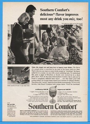 1974 Southern Comfort Whiskey Sour Recipes TEUL SoCo Vintage print Ad