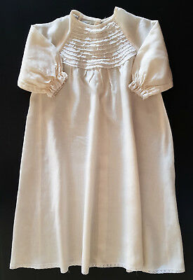 VINTAGE BABY's HAND MADE NIGHTGOWN  6-12mth ~  COLLECTORS, REBORN DOLLS,