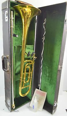 Vtg KING 3B CONCERT Trombone with F ATTACHMENT & 3 Mouthpiece