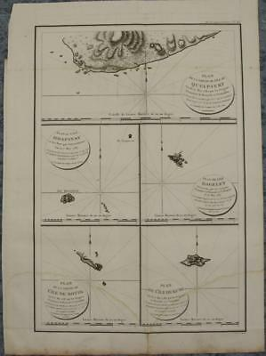 Ulleungdo Chejudo Japan Korea 1797 La Pérouse Unusual Antique Engraved Sea Chart