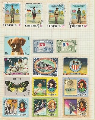 LIBERIA Collection COPERINUCUS, Boxer, Tubmans, Scouts, etc per scan USED MH #