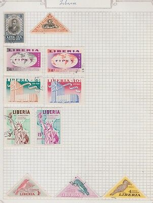 LIBERIA Collection Registered Post, FIPEX, AIRMAIL, etc per scan USED #