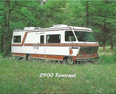 Motor Home Brochure Foretravel 2900 3300 3500 Oshkosh et al c1982 6 item (MH129)