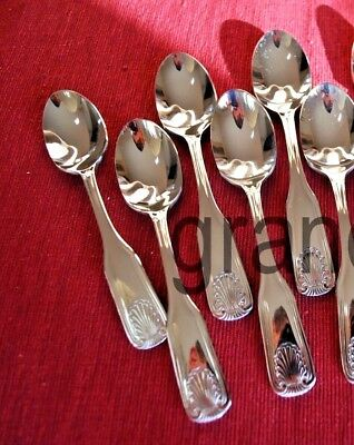 Teaspoons ~ 6 Pieces ~ Shell Pattern ~ Heavy Wt. Stainless Steel ~ Brand New