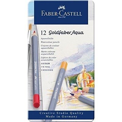 Faber-castell Creative Studio Goldfaber Aqua Watercolor Pencils - Tin Of 12 -
