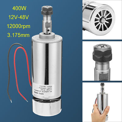 12-48V 400W ER11 Metal Air Cooled Engraver Spindle Motor for CNC Carving PCB
