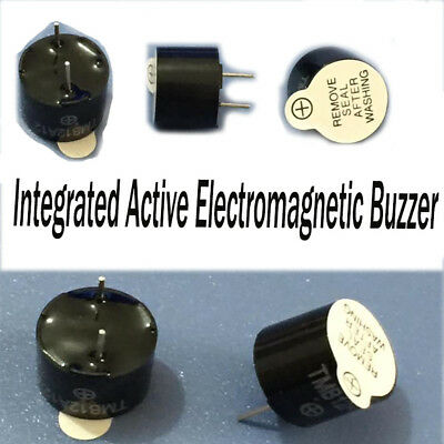 5PC Diameter 12mm Height 9.5mm Voltage 12V Active Electromagnetic Buzzer