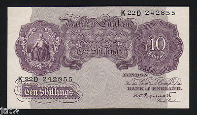 GREAT BRITAIN P-366. (1940-48) 10 Shillings. Peppiatt..  Mauve  aUNC