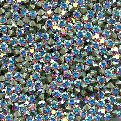 1028 PP32 CI *** 30 strass Swarovski FOND CONIQUE 4mm CRYSTAL AB F