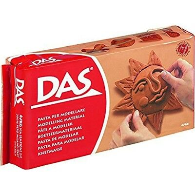 The 387600 Modelling Material, 1kg Volume, Terracotta - Das Clay Air Drying