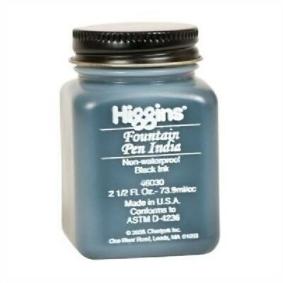 Higgins Fa723 2.5 Oz Non-waterproof Fountain Pen Ink - Black - India 2 12