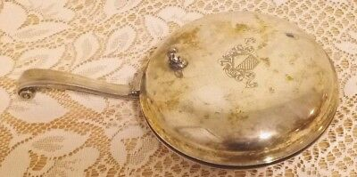 "Vintage Silent Butler/Crumb Catcher by WM A Rogers Silverplated 6 1/4"" Dia"