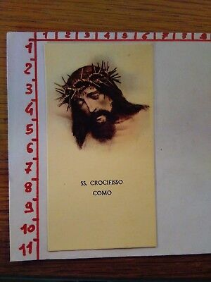 144279 santino holy card SS CROCIFISSO DI COMO