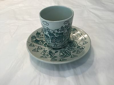Vintage Nymole Hoyrup Denmark Limited Edition 4006 demitasse cup and saucer