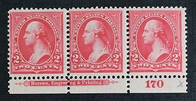 CKStamps:US Stamps Collection Scott#267 2c Strip Mint NH OG Couple Perf Separate