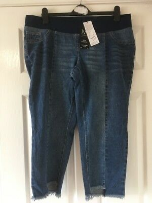 New  Next Maternity Crop  Slim Slouch Jeans Size 16 reg   £32