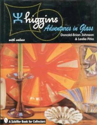 Higgins Glass book art bowl dish plate tray vase plaque