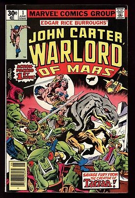 John Carter Warlord Of Mars (1977) #1 1st Print ERB Marvel Kane & Cockrum C/A VF