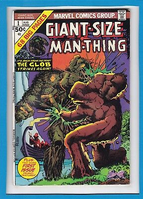 Giant-Size Man-Thing #1_Aug 1974_Vg Minus_Fright Filled First Issue_Bronze Age!