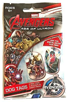 AVENGERS AGE OF ULTRON DOG TAGS (2015 Movie)--Unopened Pack (s)^