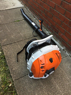 Stihl Br600 Petrol Backpack Leaf Blower 4 Mix Engine No Reserve Auction 1P Start