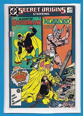 Secret Origins #16_July 1987_Very Fine Minus_Golden Age Hourman_Warlord!