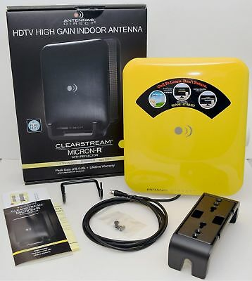 NEW Clearstream Micro-R Pure HDTV 1080i High Gain Indoor TV ANTENNA direct CSM1