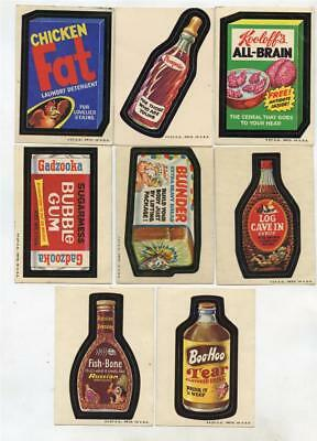 Nice Lot of 8 Vintage 1973 Topps WACKY PACKAGES Stickers 2nd Series?