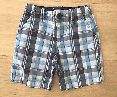 Country Road - Boys Blue Check Shorts - Size 3