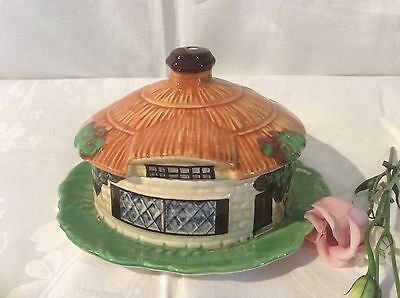 Unusual Vintage Beswick Cottage Ware House Shaped Lidded Dish Vgc