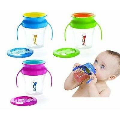 Wow Baby Cup (green) - Spill Drinking 360 New Green Free