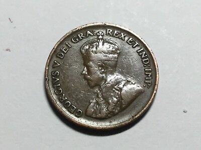 CANADA 1929 1 Cent COIN NICE CONDITION