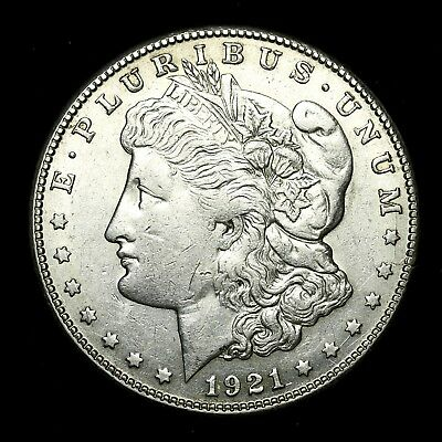 1921 S ~**ABOUT UNCIRCULATED AU**~ Silver Morgan Dollar Rare US Old Coin! #V24