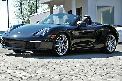 "Porsche Boxster S 2015 6 Speed Manual Transmission 20"" Carrera S Wheels Triple Black Like New"