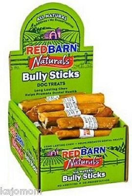 "50 FRESH RedBarn Naturals 5"" BULLY STICKS Dog Chews Treats Dental Grass Fed Case"