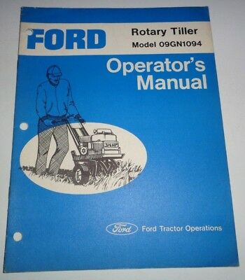FORD 3 HP CHAIN DRIVE ROTATRY TILLER SERVICE REPAIR MANUAL MODEL 09GN-1200