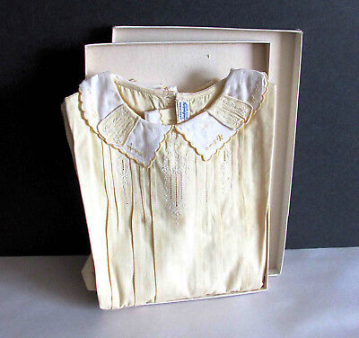 Vintage Hand Made Embroidered 6 Months Cotton Baby Romper New in Box NOS FREE SH