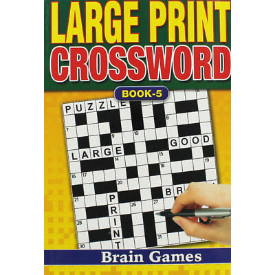 Large Print Crossword - Assorted (Paperback), Non Fiction Books, Brand New