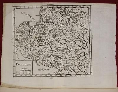 Poland & Lithuania 1712 Anonymous Unusual Antique Original Copper Engraved Map