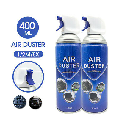 Compressed Air Duster Cleaner Can Spray 400ml Laptop PC Keyboard Camera Lens