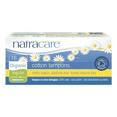 Natracare Organic All Cotton Tampons With Applicator Regular - 16 Tampons