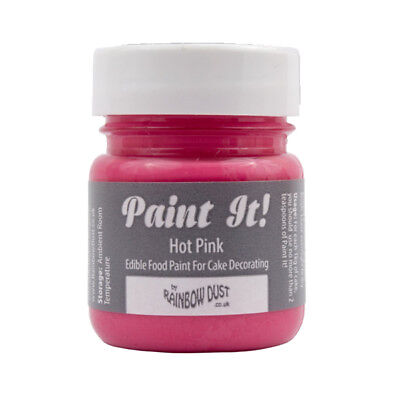 20 x Rainbow Dust 25ml Paint It Hot Pink Edible Food Colour for Cake Icing Decor