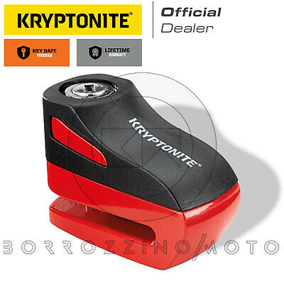 BLOCCADISCO ANTIFURTO KRYPTONITE ROSSO PERNO 5mm UNIVERSALE SCOOTER