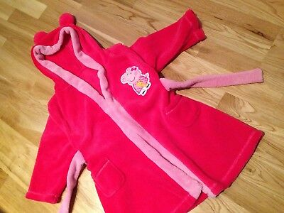 PINK FLUFFY PEPPA Pig Dressing Gown 2-3 Years - £2.50   PicClick UK