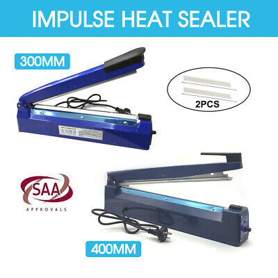 Impulse Heat Sealer Sealing SAA Machine Electric Plastic Poly Bag 300mm/400mm