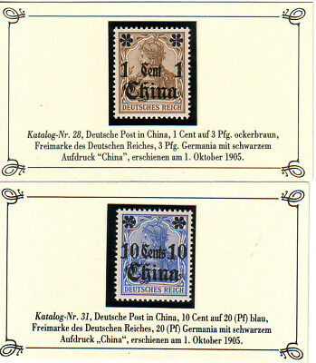 Dt. Post in CHINA ** Nr. 28 + 31 s. Scan