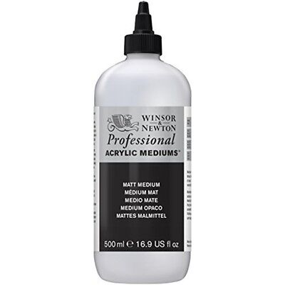 Winsor & Newton Professional Acrylic Matt Medium, 500ml - Medium Artists