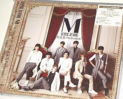 SUPER JUNIOR M Japan 1st mini Album Perfection CD DVD Siwon Donghae #999