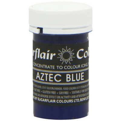 50 x Sugarflair AZTEC BLUE Pastel Edible Food Colouring Paste for Cake Icing 25g